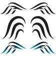 set Tribal Wings vector image