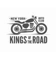 Kings of the Road typographic poster vector image