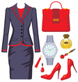 Fashion set from a female suit vector image