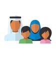 Arab Family members avatars in flat style vector image