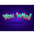 Big Win background for online casino poker vector image