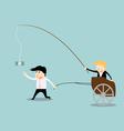 Businessman chasing money concept vector image