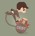 DEBT vector image