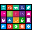 Finance icon series in Metro style vector image