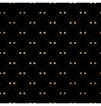 Gold veil seamless pattern on black background vector image