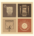 hipster grunge handmade badges design - needlework vector image