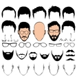 Design constructor with man head silhouette vector image