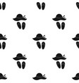 beach hat with flip-flops icon in black style vector image