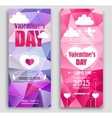 Colored banners for Valentines Day vector image vector image
