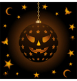 halloween lantern vector image vector image