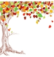 autumn tree background vector image