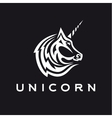 Unicorn logo icon style trend beautifully flat vector image
