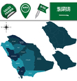 Saudi Arabia map with named divisions vector image