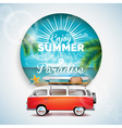 tropical paradise typographic on tropicat plants vector image vector image