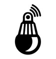 bulb icon simple black style vector image