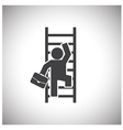 Businessman Climbing Ladder vector image