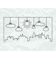 city contours vector image