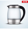 electric glass kettle vector image