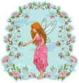 flower fairy vector image