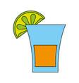 glass lemon flat vector image