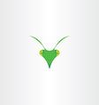 praying mantis icon clip art vector image