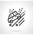 Ride on dirt road black line icon vector image