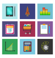Set of Colorful Business Icons vector image