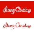 Text Merry Christmas Lettering design vector image