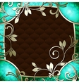 vintage frame in dark green vector image