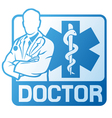 medical doctor symbol vector image vector image