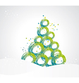 stylized Christmas tree from ribbons circles vector image vector image