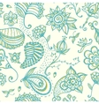Hand-drawn floral seamless pattern vector image