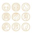 womens logo design elements vector image vector image