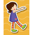 Little girl doing silly pose vector image vector image