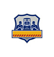 Train Engineers Arms Crossed Diesel Train Crest vector image vector image