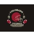 American football university championship badge vector image