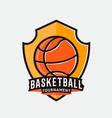 basketball logo label badge emblem icon vector image