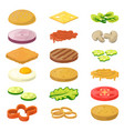 different burgers vector image