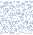 Easter lace eggs seamless pattern vector image