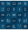 Gadgets linear icons vector image