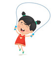 of kid skipping rope vector image