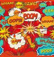 seamless pattern comic speech bubbles vector image