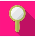 Hand mirror flat icon vector image