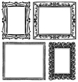 SET OF WOODEN FRAMES vector image vector image