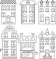 Set of house  separated houses vector image