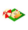 icon picnic vector image vector image