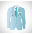 Close up of a doctors lab blue coat vector image vector image