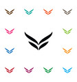 isolated wings icon fly element can be vector image