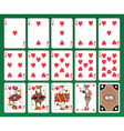 Hearts Playing Cards Set vector image vector image