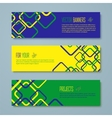 Set of Brazil concept color banners vector image